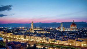 Florence panorama by night